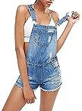 Ybenlover Damen Latzhose Jeans Kurze Hose Hotpante Denim Shorts