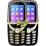 I KALL K3311 Dual Sim 2.4 Inch Display With Unbreakable Screen Combo Of Two Basic Feature Mobile Phone With 1800 Mah Battery, GPRS, Bluetooth. Flash Light And 1 Year Warranty - Silver Golden