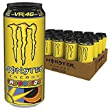 Monster Energy The Doctor / Valentino Rossi Special Edition mit prickelndem Zitrusgeschmack / Energy Drink Palette / 24 x 500 ml Dose