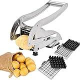 Sopito Süßkartoffel Pommesschneider, kartoffelschneider Edelstahl Pommes Frites Schneider für Hausgemachte Pommes