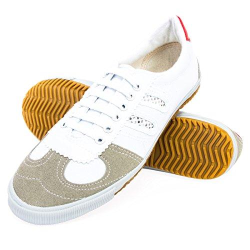 Wu Designs shuang Xing-Arti marziali-wushu-Sport & Parkour Scarpe-Minimal, bianco, 41 EU