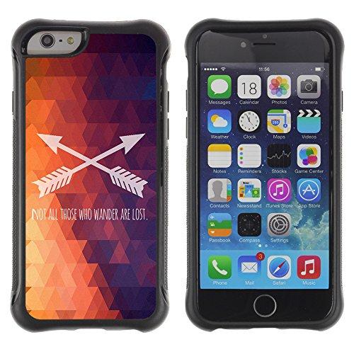 Graphic4You Be Fearful Of Mediocrity Englisch Zitat Nachricht Shockproof Anti-Rutsch Weichen Hülle Case Tasche Schutzhülle für Apple iPhone 6 Plus / 6S Plus Design #2