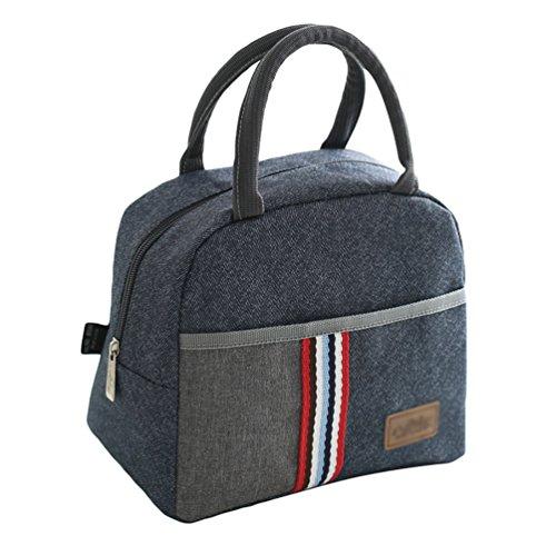LINNUO Lunch-Tasche Isolierte Kühltasche Picknicktaschen Campingtasche Mittagessen Tasche Lunchtasche Lunchbox Lunch Bag (Als Bilder,23 * 14 * 20.5cm)