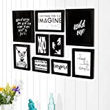 Art Street Frame Motivational Posters / Photo Frames Simple Life Theme Set of 9 Pieces with Art Prints.