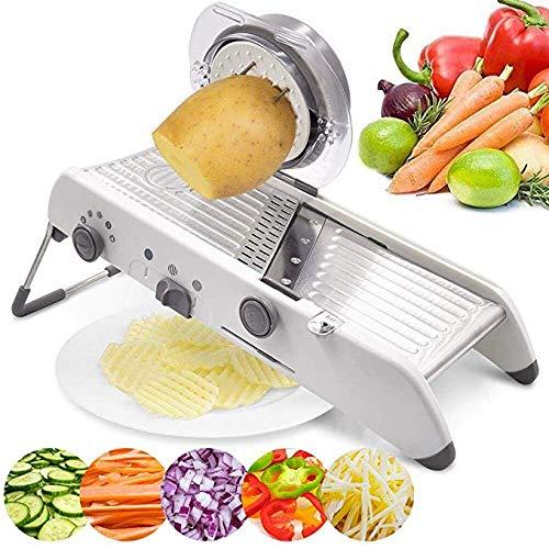 hl Manuelle Cutter Gemüsereibe Julienne Slicer Obst Waffel Küche Kartoffelschneider 18 Arten Einstellbar ()