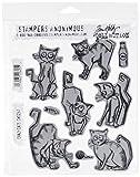 Stampers Anonymous Tim Holtz Tampons Motif Crazy Cats d'occasion  Livré partout en France