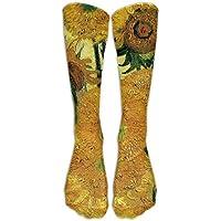 Van Gogh Sunflowers Athletic Tube Stockings Women Men Classics Knee High Socks Sport Long Sock One Size