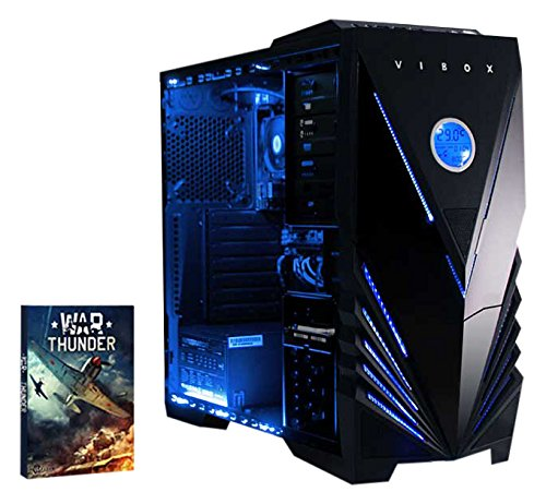 VIBOX Vision 2 - Ordenador para gaming (AMD A4-6300, 8 GB de RAM, 1 TB de disco duro, AMD Radeon HD 8370D) color neón azul