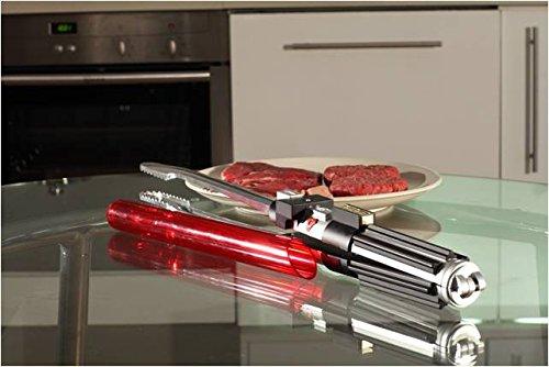 Offizielle Star Wars Grillzange im Lichtschwert Design mit Sound 57 cm