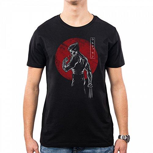 PacDesign Camiseta Hombre Old Mutant X Men Logan Wolverine Dj0036a, L, Black