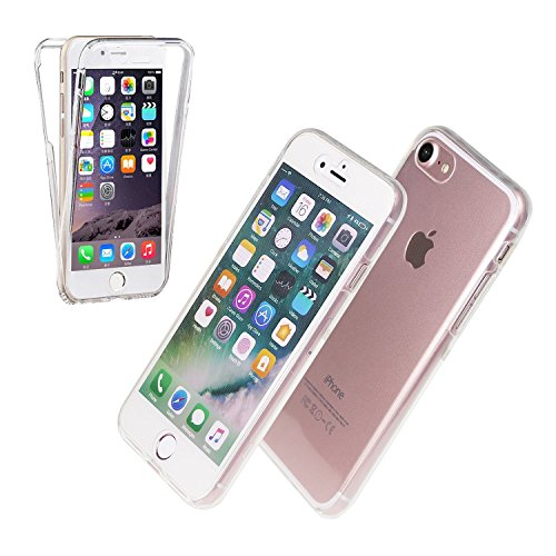 Price comparison product image Front and Back Full Protection iPhone 7 / 8,  Ultra Clear Transparent Soft Silicon Gel Skin Case Cover For Apple iPhone 7 / 8 ( 4.7'' ) By Ample