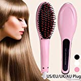 Gadgetronics Fast Professional Hair Straightener for Womens Electric Comb Brush Nano 3 In