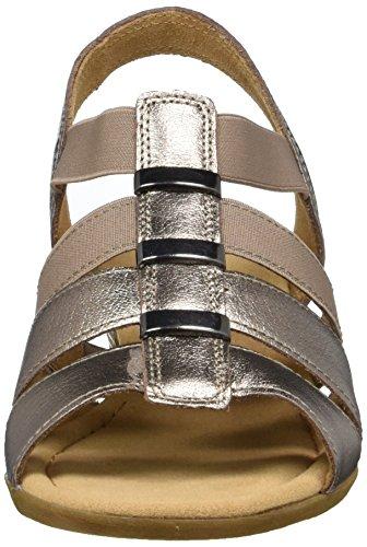 Gabor Shoes Comfort, Sandali con Zeppa Donna Bianco