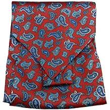 Avantgarde ASCOT UOMO rosso vivo SETA FOULARD DIS CASHMERE camicia CASHE  COL made Italy 4af15825ae9
