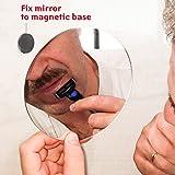 Tatkraft CHANGE Miroir de Rasage et Maquillage Auto-Adhésif magnétique, Ø 15cm