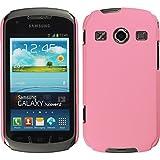 PhoneNatic Case für Samsung Galaxy Xcover 2 Hülle rosa gummiert Hard-case + 2 Schutzfolien