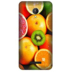 Koolbug Oranges Pattern Hard Polycarbonate Designer Back Case Cover For Micromax Canvas Spark Q380