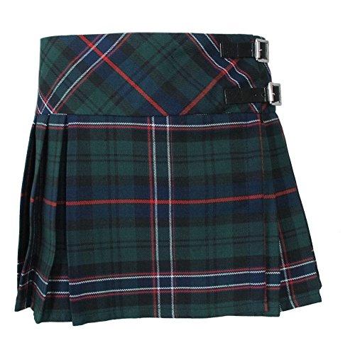 """Tartanista - Mädchen Faltenröcke mit Tartanmuster - modern - mit Lederriemen - Scottish National - 8 Jahre - Taille: 58cm (23""""), Länge: 29cm ()"""