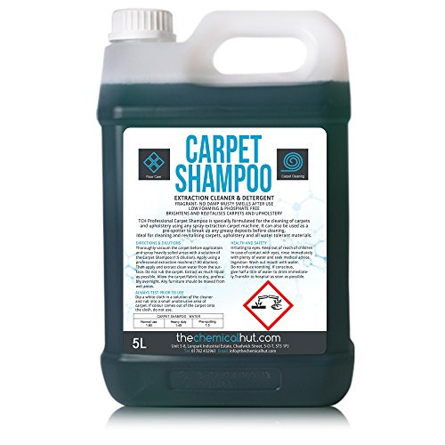 5 Litres of Professional Carpet Cleaner Shampoo & Pre-Spotter - Suitable for all Machines