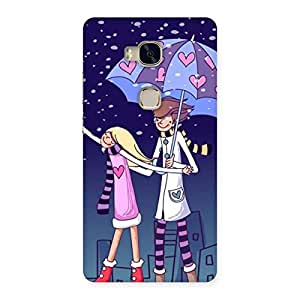 Cute Anime Couple Multicolor Back Case Cover for Huawei Honor 5X