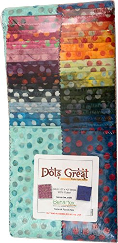 Bali Batik Dots Great strip-pies 402,5Streifen Jelly Roll benartex (Jelly Roll Stoff Batik)