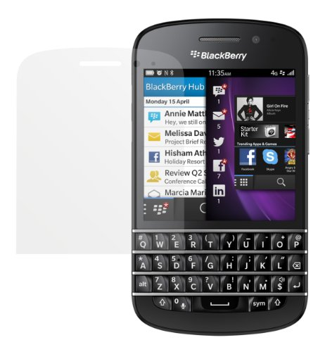 dipos Blackberry Q10 Schutzfolie (2 Stück) - Antireflex Premium Folie matt