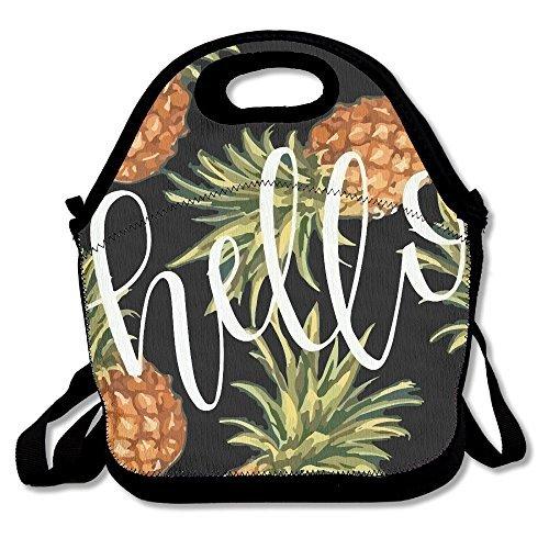 Piña personalizado con aislamiento bolsa para el almuerzo fiambrera neopreno Gourmet Cooler cálido bolsa de picnic para la escuela oficina de trabajo