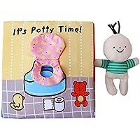 Cuaderno de ropa educativa para bebé, anticorrosión para niños con educación temprana, libro de aprendizaje preescolar, libro de baño con papel de sonido integrado para niños de 0 a 3 años