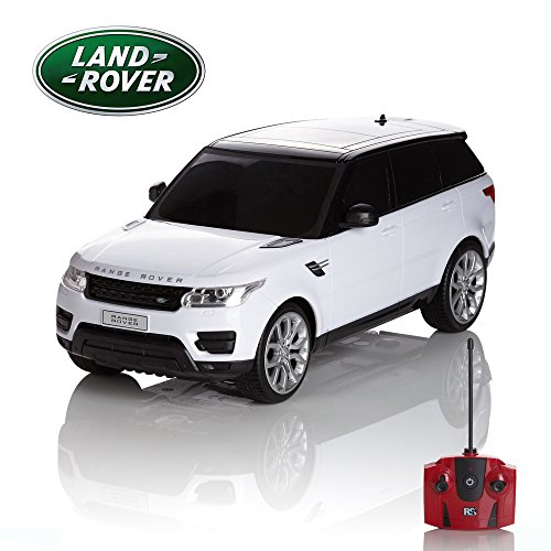 Radio Remote Controlled RC Car Range Rover Sport White Scale 1.24 Official
