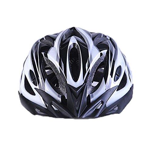 Uzexon Erwachsene Unisex Helme mit 18 Belüftungsöffnungen,Abnehmbarer Visier,Einstellbares Radsystem und Ein weicher Mesh-Liner für Fahrradhelme (Weiß&Schwarz) - 4