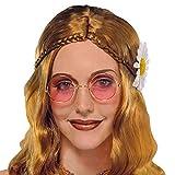 Runde pinke Hippie Brille