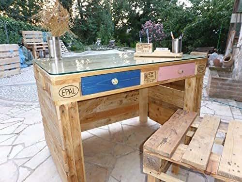 Art 013 scrivania in pallet by flab arredo pallet amazon for Scrivania arredo