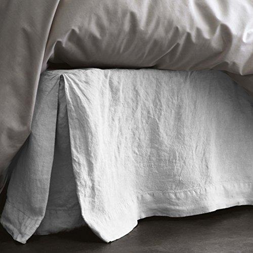 BLANC CERISE Cache sommier en lin lavé 160 x 200 cm