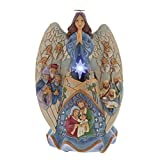 Heartwood Creek Figurine Musicale ET Lumineuse Ange NATIVITE 6001481, Résine, Multicolore, 28 cm