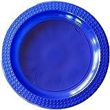 Duni Kunststoff-Teller Colorix, Combi-Pack ø 22 cm / 17 cm, blau/hellblau, je 10 Stück