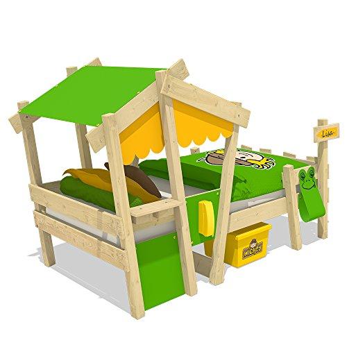 WICKEY Kinderbett CrAzY Candy Jugendbett 90x200cm mit Lattenboden, gelb-apfelgrün - 3