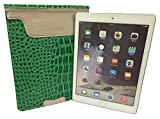 Universal 9' 9.7' 10' 9 inch 9.7 inch Tablet PC MID Green Crocodile Faux leather skin sleeve case for Acer Iconia Tab A3-A20 10 Inch,ARCHOS 101b Platinum 10',ARCHOS 97 Cobalt 9.7',Bush MyTablet 10 Inch,GOOGLE Nexus 9,HP Slate 10 Inch,Kindle Fire HDX, 8.9',Nexus 9 8.9 Inch,Sony Xperia Z2 10 Inch,SONY Xperia Z2 4G Tablet,SONY Xperia Z2 Tablet,Toshiba 10 inch Encore Windows Tablet