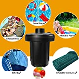 Electric Air Pump, GOCHANGE Electric Pumps Inflate deflate with 3 Nozzles for Air Bed Boat Raft Mattress Pool Toys Camping