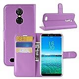 HualuBro Oukitel C8 Hülle, Premium PU Leder Leather Wallet HandyHülle Tasche Schutzhülle Flip Case Cover mit Karten Slot für Oukitel C8 Smartphone (Violett)