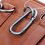 Hengying Leder Mini Kleine Umhängetasche Gürteltasche Handy Tasche mit Viele Fächer Passt für Galaxy S8 Plus iPhone 6S Plus 7 Plus (Braun) - 7