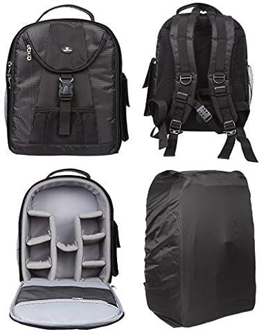 Case4Life Compact Reflex DSLR Sac à dos pour Nikon SLR D Series - D3100, D3200, D3300, D3400, D4, D40, D5, D500, D5100, D5200, D5300, D5500, D700, D750, D7100, D7200, D800, D810, D810A