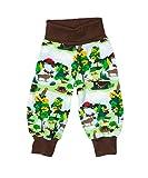 JNY Colourful Kids - Baby Schlupfhose Pants Krabbelhose Spielhose Hose NORTHERN SWEDEN in grün - Bio Baumwolle Größe 56