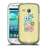 Head Case Designs Pink Und Blau Liebe Kawaii Eule Ruckseite Hülle für Samsung Galaxy S3 III Mini