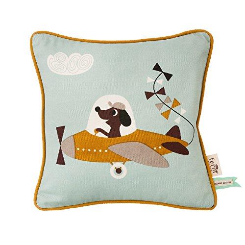 ferm Living Kissen Hund mit Flugzeug (Dog Cushion) 7533
