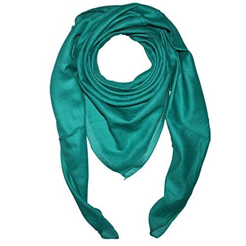 Superfreak Baumwolltuch - Tuch - Schal - 100x100 cm - 100% Baumwolle, Farbe grün-türkis grün