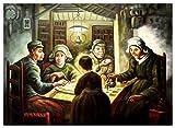 elOleo 90933A Vincent van Gogh - Die Kartoffelesser 80x110 Ölgemälde auf Leinwand handgemalt