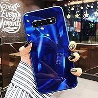 Uposao Compatible con Funda Samsung Galaxy S10e Purpurina Funda,Espejo Glitter Brillante Carcasa con 3D Geométrico Diseño TPU Slim Silicona Carcasa Funda Caso para Galaxy S10e,Azul