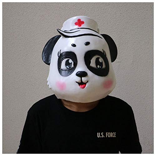 da Mask Animal Panda Doktor Nurse Mask Headgear Kleidung Party Latex ()