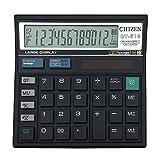 kunli Calcolatore da tavolo calcolato a due calcolatori a 12 cifre, calcolatore di tabella di funzione standard