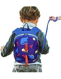 Robluee - Mochila Escolar para niños con diseño de Dinosaurio, antipérdida, 1-2